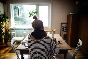 Anna Grundberg i sin ateljé.