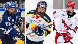 Maja Nylén-Persson, Sofie Lundin och Mina Waxin är tre av spelarna som har blivit uttagna till U18-VM som inleds efter årsskiftet. Bild: Bildbyrån.