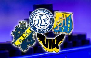 AIK, Leksand, SSK och Västerås gör upp om prissumman på 101 000 kronor i Skoda Trophy i Södertälje. Foto: Bildbyrån