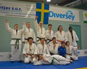 Hela svenska truppen med deltagare från Gävle, Västerås, Lindesberg och Stockholm