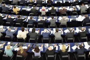 Foto: Henrik Montgomery / TT       EU-parlamentet i Strasbourg.