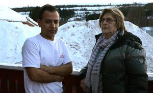 Alena Brogren har varit ett stark stöd för Mahmut Aydin under de åra han kämpat för att få sin fru till Sverige.