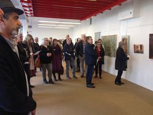 Årets upplaga av arrangemanget Höglandets konstronda ställs in. Bilden är från en vernissage ett tidigare år.