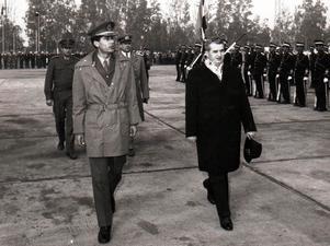 Muammar Khadaffi besöker Rumäninen och dess kommunistiske ledare Nicolae Ceausescu 1974. Foto: Fototeca