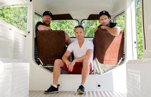 Jonas Hamlund, Stefan Westin och Tord Budenberg köpte foodtrucken i Bordeux i mars 2017.
