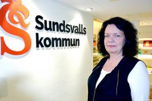 – Vi har fått en budget utifrån de medel som finns till hemtjänstens förfogande och vi har att rätta oss efter den, säger Karin Holmin, affärsområdeschef för hemtjänsten i Sundsvalls kommun.