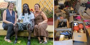 Kirsi Sääf, David Drammeh och Berit Karlsson är några av de som kommer åka till Gambia i november för att dela ut Fagerstabornas saker till de mest behövande.