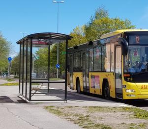 Dörrarna smällde igen när Eivor Skoog var på väg att kliva av bussen. Bilden är tagen vid ett annat tillfälle.