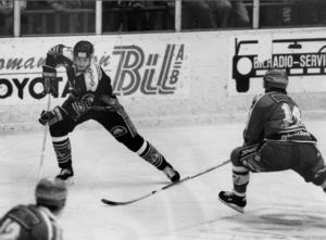 Nicklas Lidström in action som tonåring i VIK nån gång mellan 1988-1991.