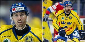 Anton Rödin får stanna hemma. Simon Bertilsson får åka till Moskva, från Sotj, för att spela med Tre Kronor.