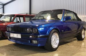 Har någon sett en blå BMW som stals vid ett inbrott i Rättvik natten till tisdag. (Foto: privat)