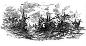 Teckningen är gjord av Länstidningens tidigare medarbetare, illustratören Lennart Wahlström.