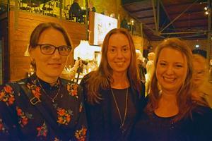 Gabriella Östberg, Anna Ericsson och Jenny Eriksson var där.