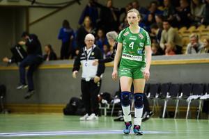 Även Alexandra Bjärrenholt fick se guldet glida Skuru ur händerna efter 0–3 i matcher mot Sävehof.