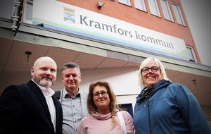 Conny Sjöblom (M), Thomas Näsholm (S), Anna Proos (M) och Malin Svanholm (S).  De två partierna är redan överens om hur posterna i nämnder och styrelser ska fördelas. Men vilka personer det handlar om blir en senare fråga för fullmäktige.