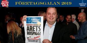 Jimmy Karlsson blev Årets Rospigg 2019 och hyllades på torsdagskvällen av 300 gäster på Företagsgalan.