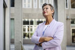 Ylva Johansson (S) arbetsmarknadsminister Foto: Erik Simander / TT