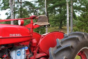 I traktorutställningen fanns det många fina exemplar.