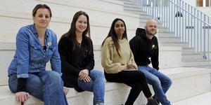 Merima Elezovic, Annika Westling, Linda Flodén och Erik Lännström är väldigt nöjda med hur insatserna har utvecklat sig.
