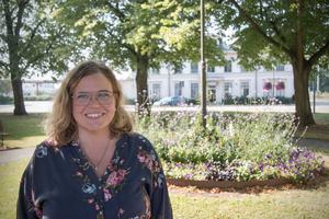 Här kanske? Pernilla Rönnlund,  tycker att Järnvägstorget – eller varför inte Stora Torget – skulle passa bra som plats för statyn.