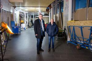 Arbetet pågår fullt att bygga om lokalen som ligger vid entrén mot Ikea.