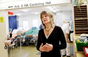 Katharina Lindbergh, enhetschef på akuten på Sundsvalls sjukhus.