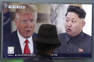 Ordkriget mellan presidentTrump och diktatorn Kim Jong-un riskerar att leda till kärnvapenkrig.