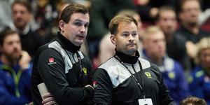 Martin Boquist (till vänster) ska kombinera jobbet som assisterande förbundskapten med att vara assisterande tränare i VästeråsIrsta. Foto: Andreas Hillergren / TT