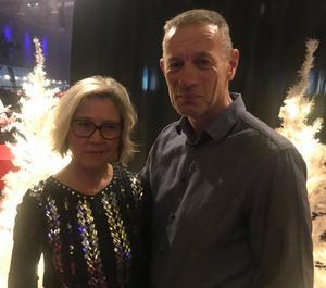 Kristin Zetterström hade fått sin biljett i födelsedagspresent av sin man Stefan.
