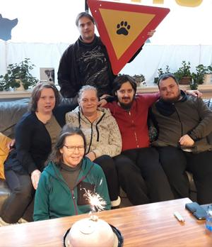 Luddes hunddagis firar sin certifiering. Foto: Christina Smulter