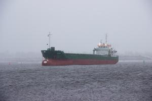Fartyget kom från Lettland och hade lassat ved i Skutskär när det gick på grund.