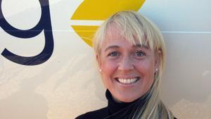 Tezz Tordsdotter, ny vd för Nya Västerås Flygplats.