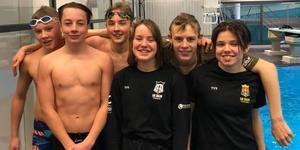 SK Ägirs simmare vände hem med nya personliga rekord från riksfinalerna i Umeå.  Foto: SK Ägir