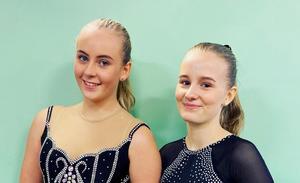 Lina Silvroth och Klara Myhrberg som tävlar i A-serien.