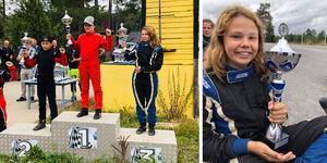 Emma Tietjens kom trea i Strängnäs. Foto: Privat