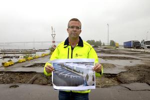 Efter flera års planerande sätter bygget igång på Södra kajen.