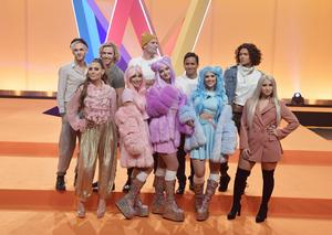 Artisterna som kommer att tävla i Melodifestivalens tredje deltävling i Leksand.Foto: Jessica Gow/TT