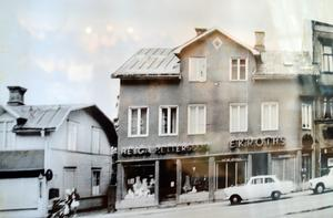 Så här såg Helga Pettersson-butiken ut på 1960-talet. Bild från Rädda bilden-arkivet.