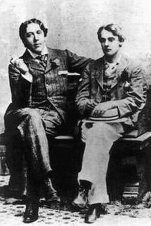 Oscar Wilde med sin unge älskare Alfred Douglas 1903. Foto: Okänd