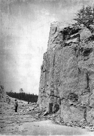 1973 byggdes en ny väg mellan Backe och Junsele. Under rubriken
