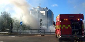 Brand under Dagnybron i Borlänge.