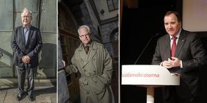 Göran Persson, Ingvar Carlsson och Stefan Löfven har spelat in en låt om Socialdemokraternas historia, enligt Aftonbladet. Arkivbilder.
