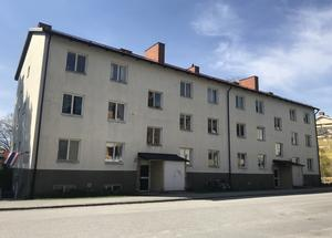 En av fastigheterna på Strindbergsvägen som Telge bostäder sålde 2018. Foto: Ellinor Gotby Eriksson