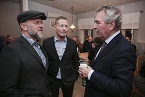 Veteranerna Thomas Östlund och Michael Pettersson delar många bryggeriminnen med mångårige högsta chefen Jens Spendrup.