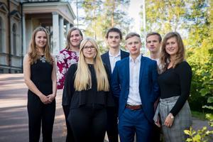 Ljungbergs.stipendiater från Borlänge. Foto: Catharina Johnson