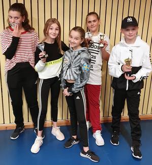 Dansare i Sundsvall: Ida, Maja, Elin, Frans och längst fram Agnes