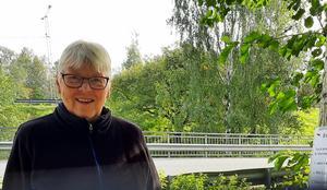 Den 7 september var Kerstin Bergström först ut till promenad nummer 16. Foto: Stig Eklöf