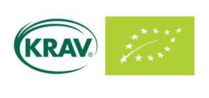 KRAV och EU-lövet är miljömärkningar som garanterar att ekologiska metoder används.