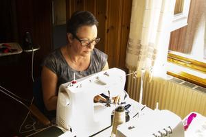 Stina Lindh Jedeström var den som kom på idén att arrangera ett sy-lan.