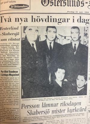 ÖP:s förstasida 21 november 1958.